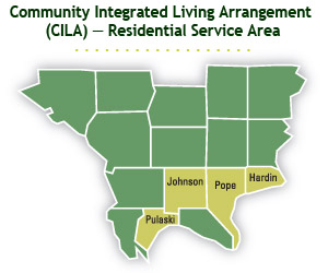 Community Integrated Living Arrangement (CILA) Residential Service Area