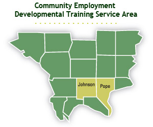 Community Employment Developmental Training Service Area