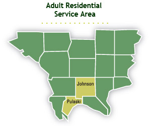 Adult Residential Service Map