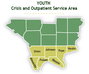 FCC Youth Crisis and Outpatient Service Area Map