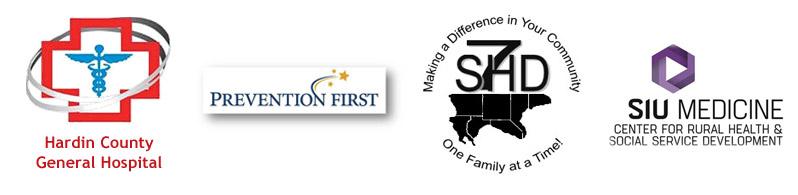 Hardin County General Hospital, Prevention First, 7SHD, SIU School of Medicine Logos