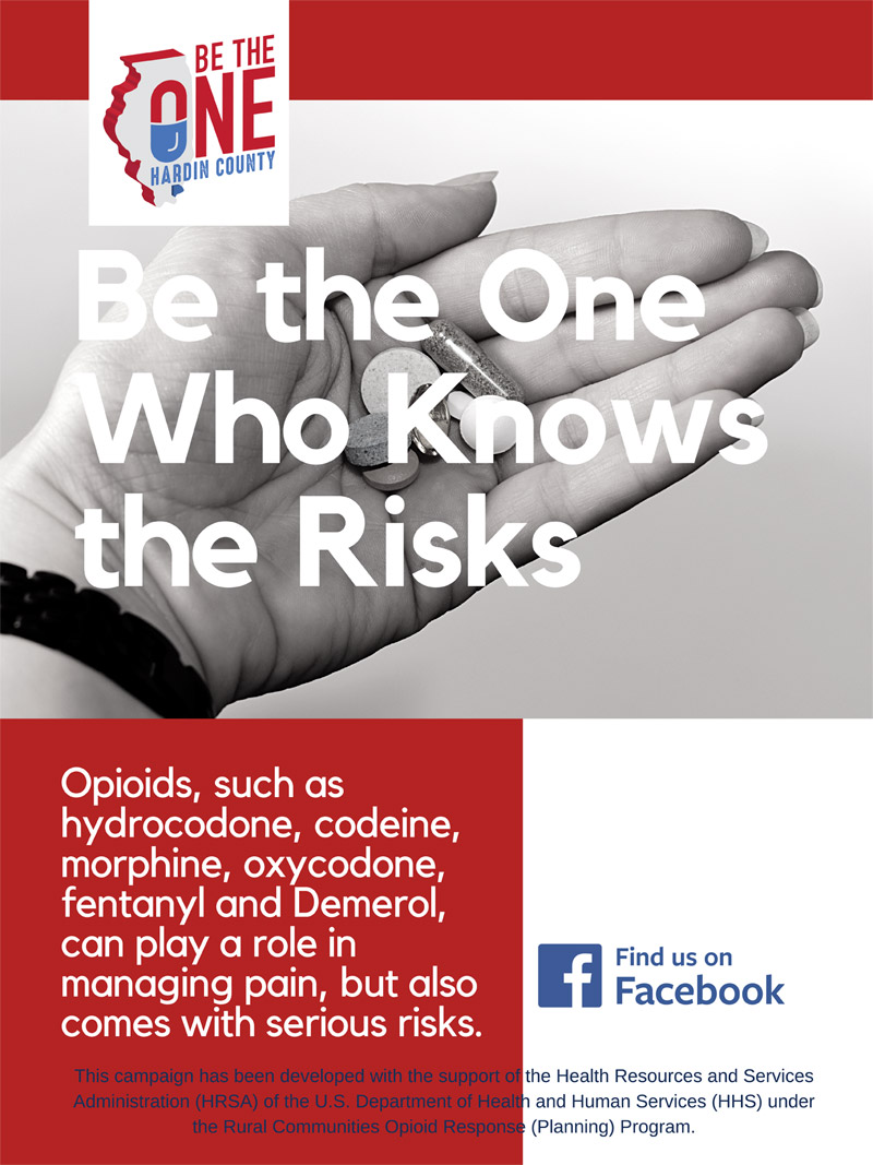 Be the One Who Knows the Risks. Opioids, such as hydrocodone, codeine, morphine, oxycodone, fentanyl and Demerol, can play a role in managing pain, but also comes with serious risks. Find us on Facebook This campaign has been developed with the support of the Health Resources and Services Administration (HRSA) of the U.S. Department of Health and Human Services (HHS) under the Rural Communities Opioid Response (Planning) Program.